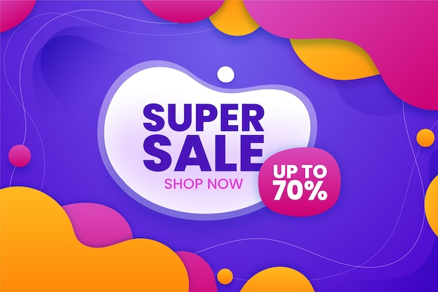 Super sale background with offer