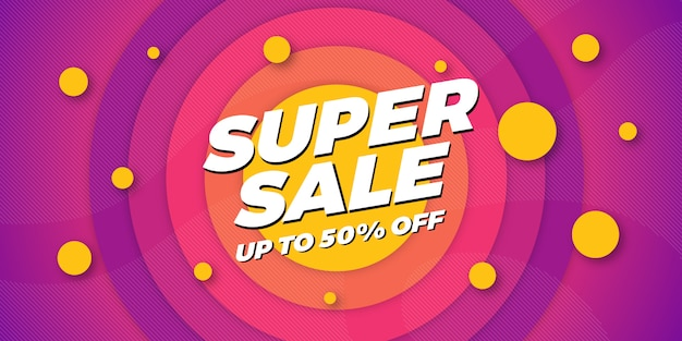 Super sale banner background