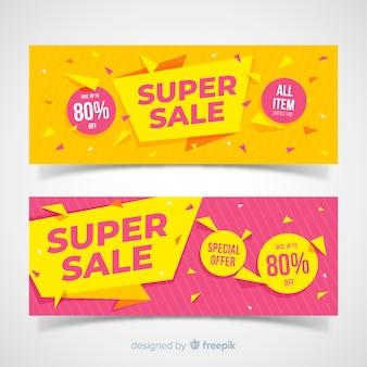 Super sale banner concept