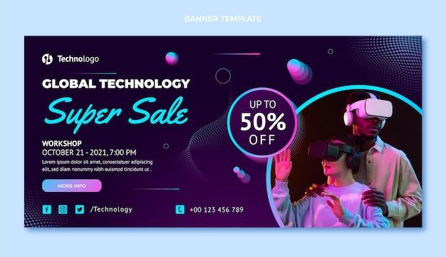 Super sale banner design template