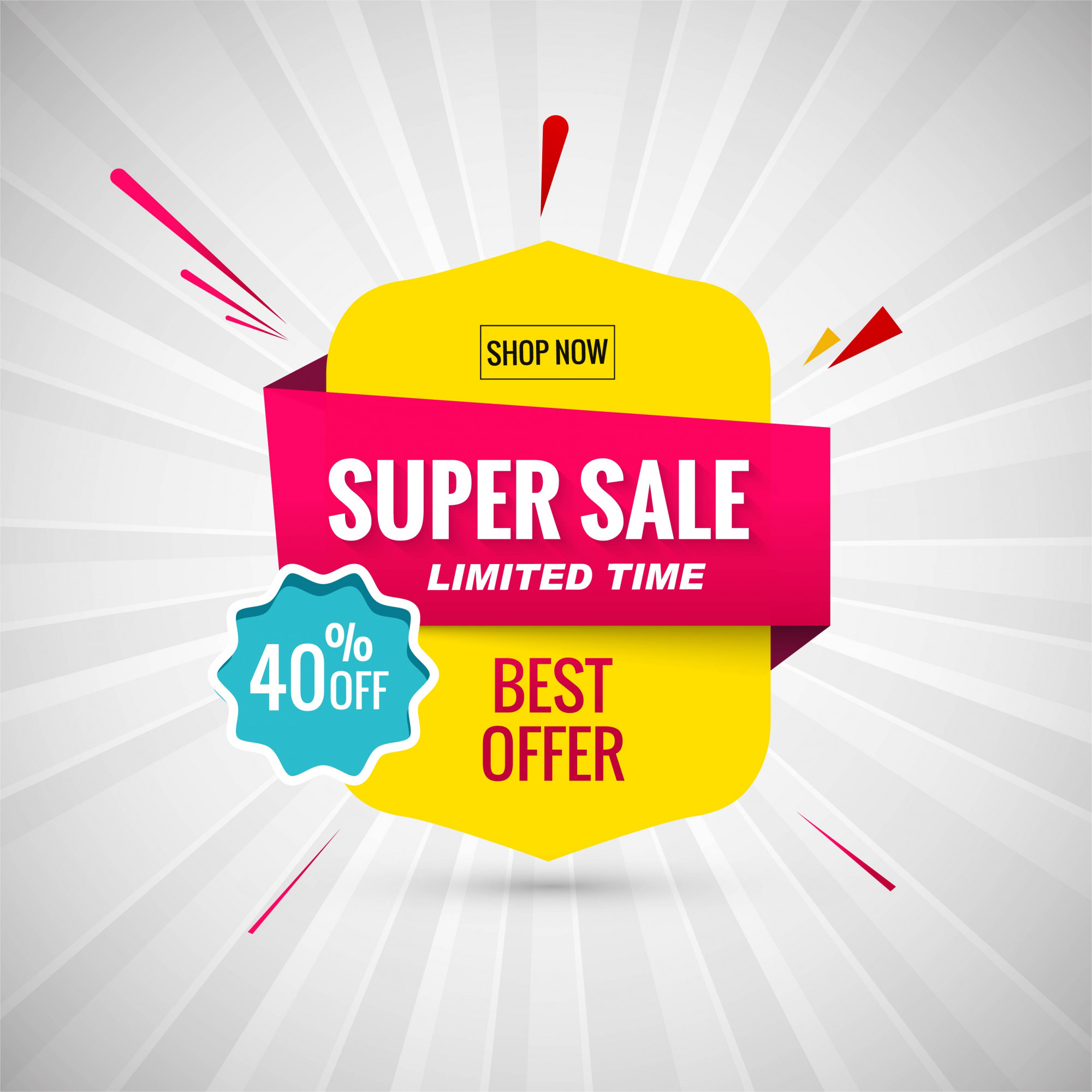 Super Sale Banner Design. Vector illustration