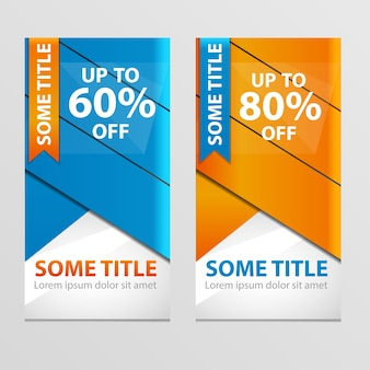 Super sale banner taped -60%, -80% discount