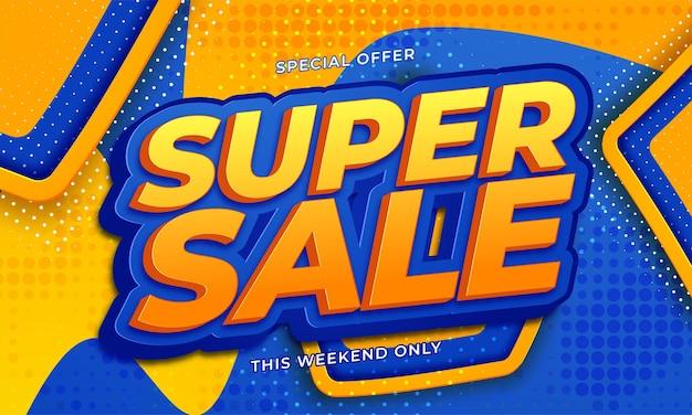 Super sale banner templete design for media promotions