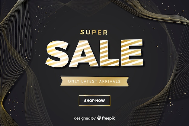 Super sale banner with special discount