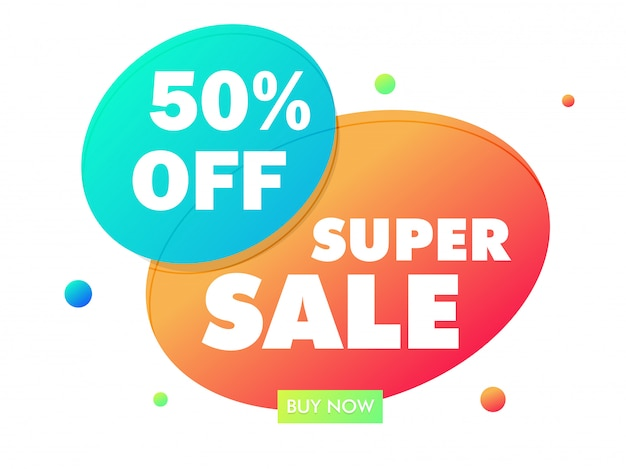 Super sale bubble abstract vector illustration