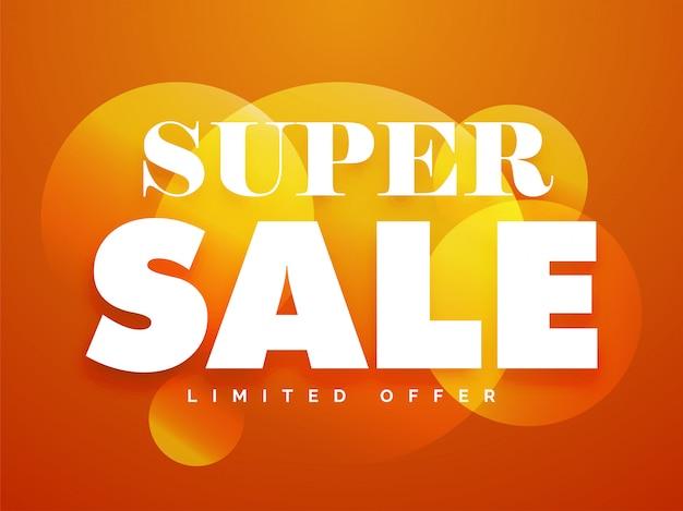 Super sale circle banner
