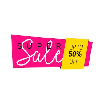 Super sale creative banner design