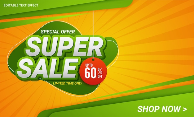 Super sale discount banner template promotion