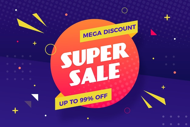 Super sale discount business background