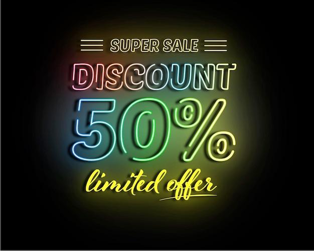 Super sale discount  design vector template