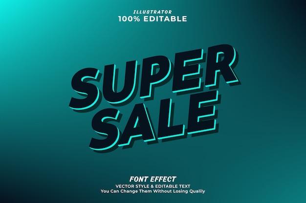Super sale editable text effect-premium