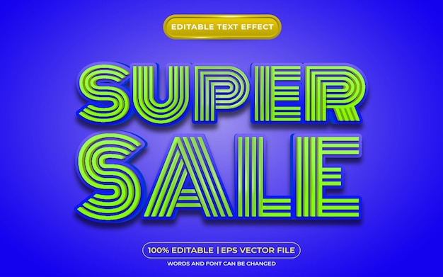 Super sale editable text effect template style