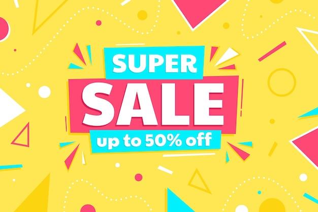 Super sale flat design banner