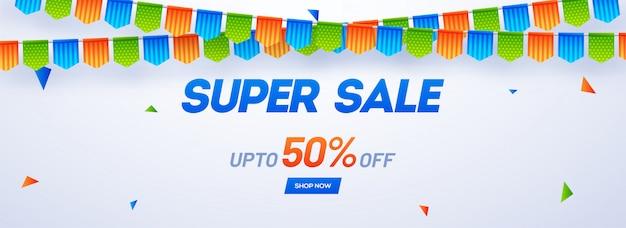 Super sale header or banner design