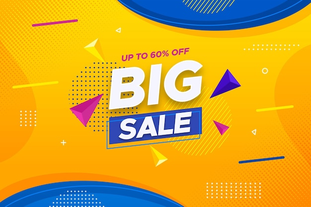 Super sale horizontal banner with discount