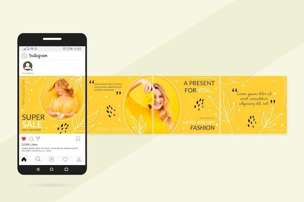 Super sale instagram carousel templates