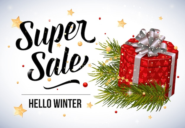 Super sale lettering with present box