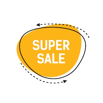 Super sale lettering on yellow background