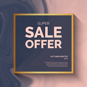 Super sale offer background template