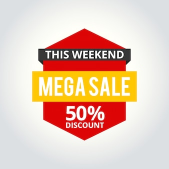 Super sale poster 50% off. vector illustration.
