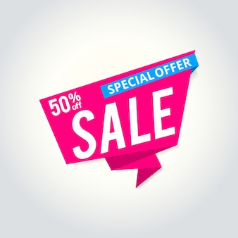 Super sale poster, banner. big sale, clearance. 50% off