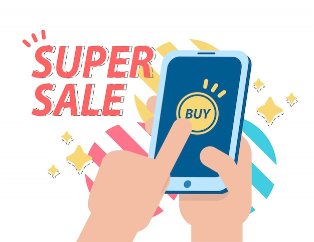 Super sale. promotion and shopping. can use for web banner