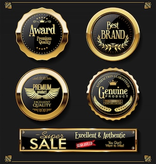 Super sale retro vintage labels vector collection