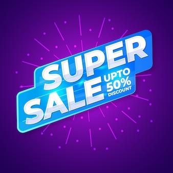 Super sale sign vector desing