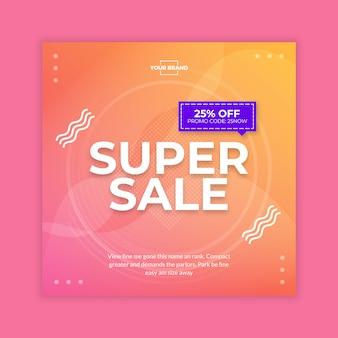 Super sale social media banner post