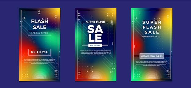 그라디언트 색상으로 슈퍼 판매 소셜 미디어 인스 타 그램 이야기 배너