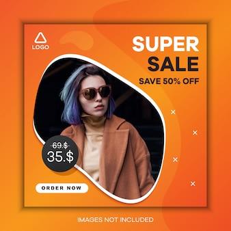 Super sale social media post template