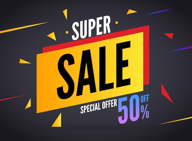 Super sale special offer banner template