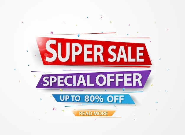 Super sale and special offer