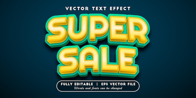Super sale text effect, editable text style