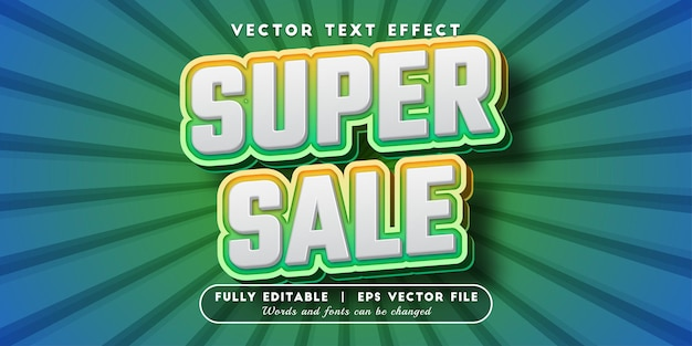 Super sale text effect with editable text style