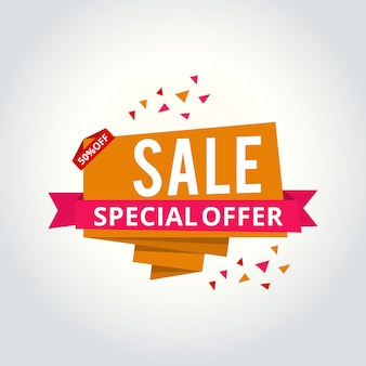 Super sale, this weekend special offer banner, up to 50% off. vector illustration.