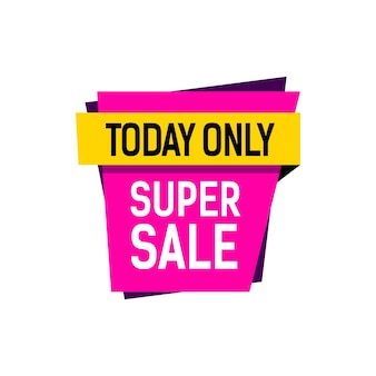 Super sale today only lettering