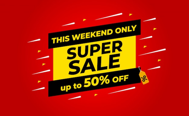 Super sale up to 50% off banner. for sales promotions, banner, discount.