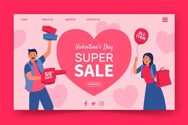 Super sale on valentines day