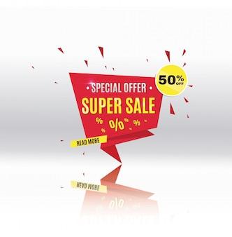 Super sale.weekend, special offer banner. the poster. big sale, special offers. illustration.