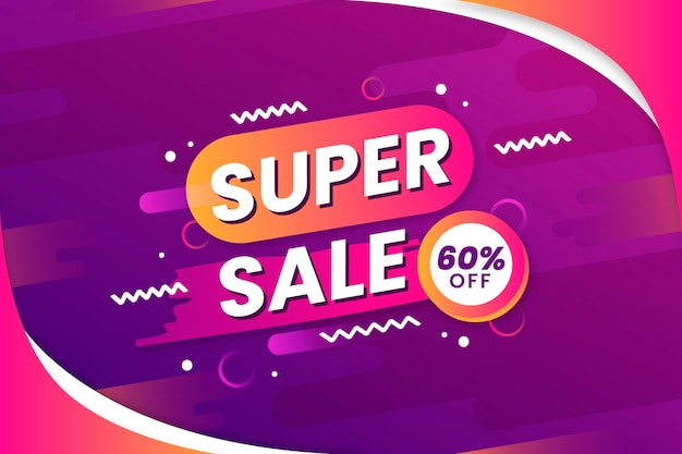 Super sale with discount background