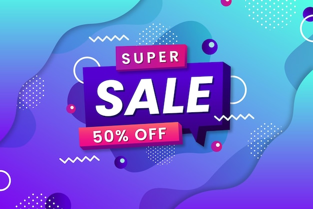 Super sale with special discount background