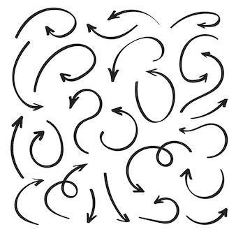 Super set hand-drawn arrows