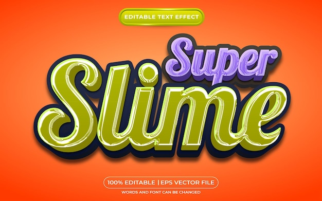 Super slime editable text style effect suitable for halloween event