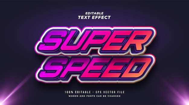 Super speed editable text style effect