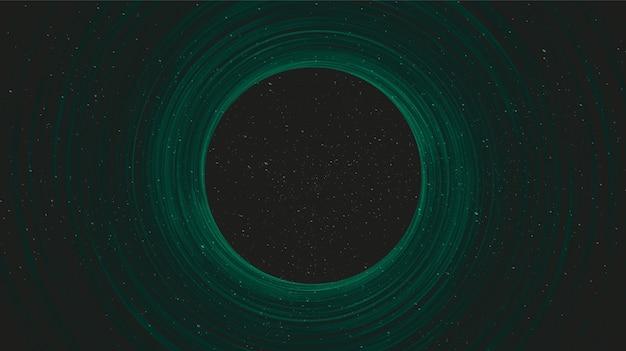 Супер спираль зеленая черная дыра на фоне галактики со спиралью млечного пути, вселенной и звездным концептуальным дизайном, вектором