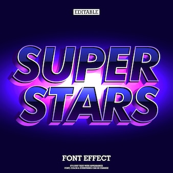 Super stars futuristic and elegant font