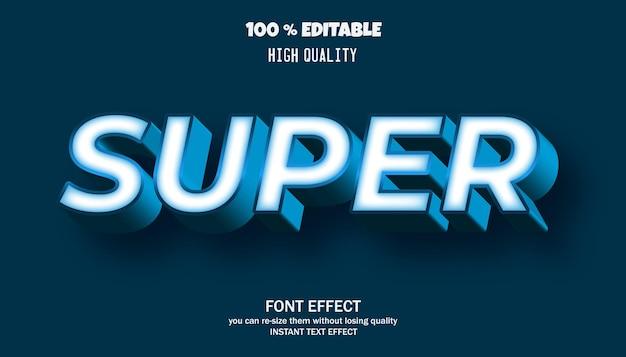 슈퍼 텍스트, 편집 가능한 글꼴 효과