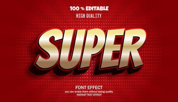 슈퍼 텍스트 효과. 편집 가능한 글꼴