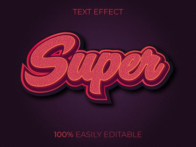 Super text effect